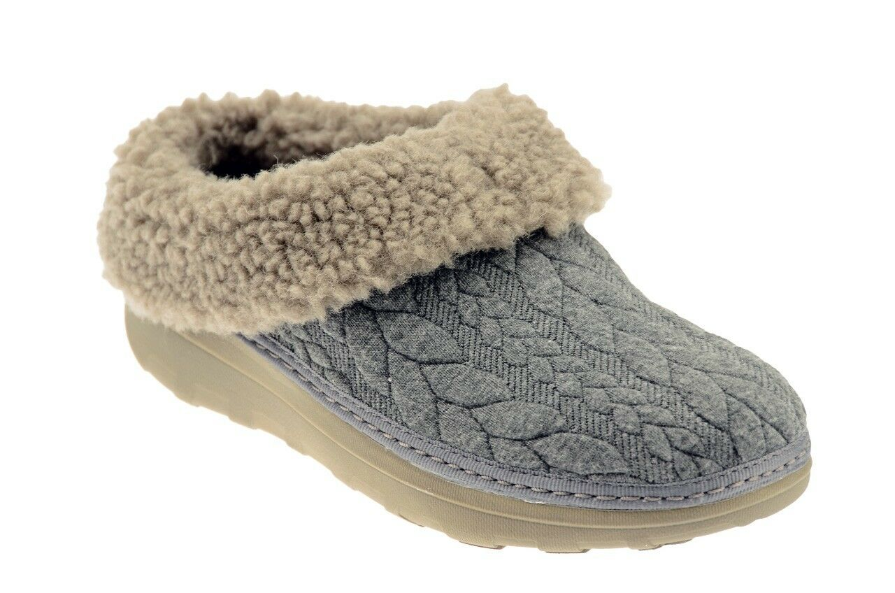 FitFlop™ LOAFF QUILTED SLIPPERS Sabot Nuevo GRI54085 MODA zapatos  MODA GRI54085 MUJER 98c58d