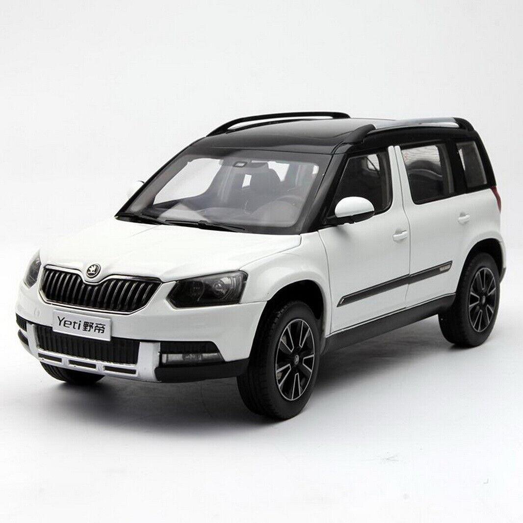 1/18 SCALA VW Volkswagen Skoda Yeti Suv Bianco Collezione Modello Auto Diecast
