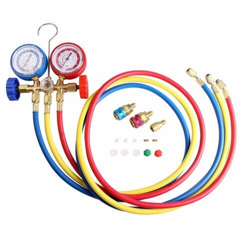 A//C Diagnostic Manifold Gauge Set Charging Refrigeration HVAC R12 R22 R134A R502