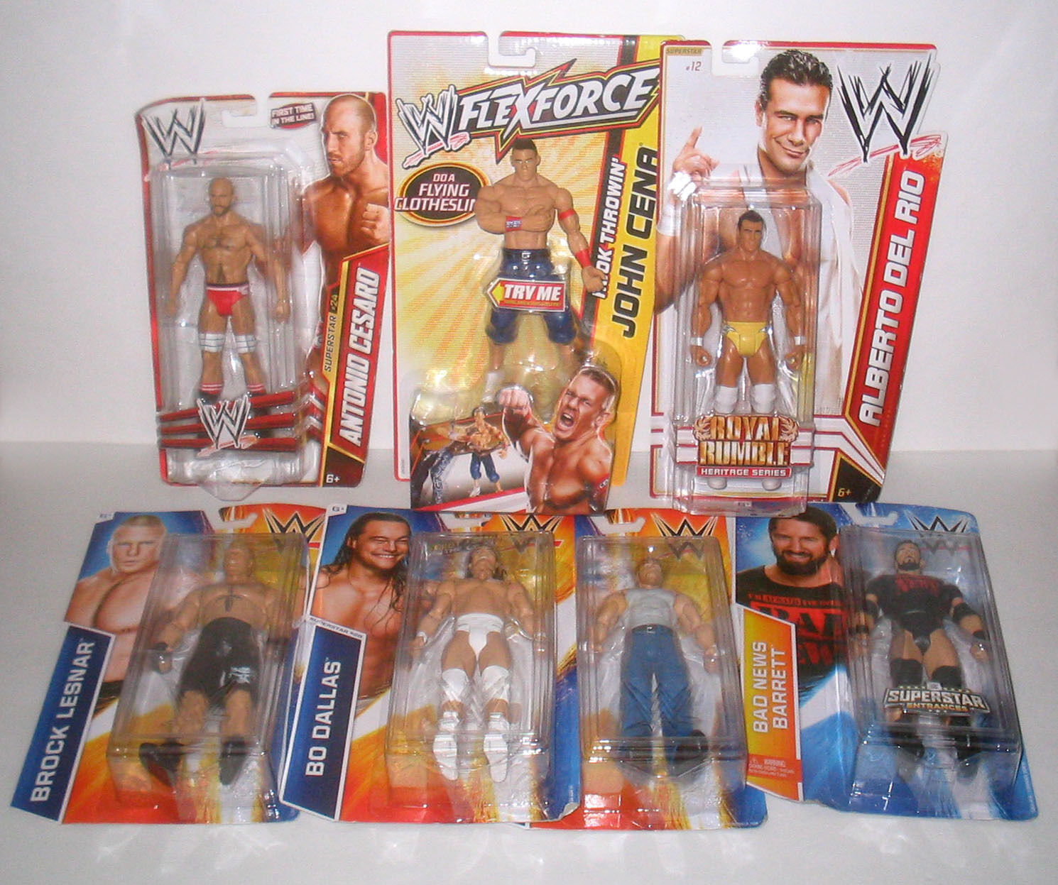 NEW WWE Wrestling Action Figure MIXED LOT 7 Figures NEW