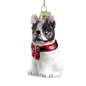 Details About Kurt Adler Noble Gems Glass French Bulldog Dog Christmas Tree Ornament