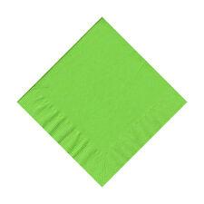 50 Plain Solid Colors Beverage Cocktail Napkins Paper - Citrus Green/Fresh Lime