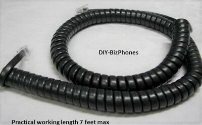 Lot of 10 Charcoal Black 12 Ft Avaya Handset Cord 9600 Series IP Phone Pack