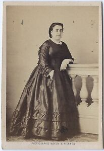 Melle Marty Attrice Ambigua Théâtre CDV Foto A.Giroux Vintage Albumina Ca 1860