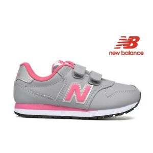 NEW-BALANCE-500-scarpe-ginnastica-bambina-kids-rosa-grigia-KV500GPY