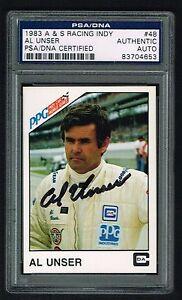Al Unser 1983 A&S de Course Ppg Indy Autographe Signé Auto Cartes à 5mmGoGpo-07154509-329551552