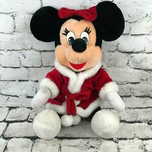 Christmas Minnie Mouse Disneyland.Details About Disneyland Walt Disney Minnie Mouse Large Christmas Plush Red Velour Santa Suit