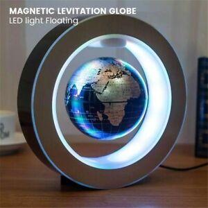 New LED World Map Magnetic Levitation Floating Globe Night Light Lamp