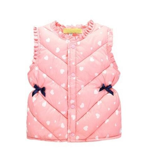EG/_ Toddler Kids Girls Clothes Winter Sleeveless Jacket Vest Casual Waistcoat Co