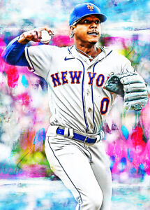 2021 Marcus Stroman New York Mets 7/25 Art ACEO Print Card By:Q