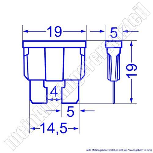 32v 5x vehículo de copia de seguridad de copia de seguridad flachstecksicherung ato 3a lila 3 a amperios