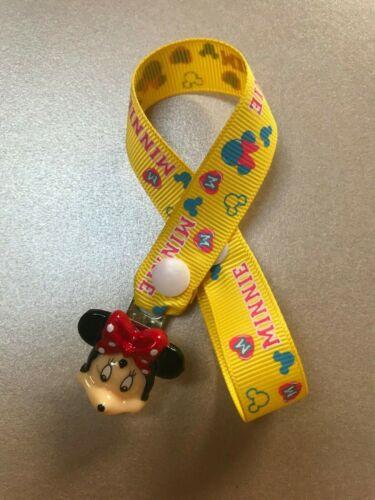 Minnie Mouse factices sucettes sucette clip ~ pas de perles ~ 3 Options De Couleur ~ NOUVEAU