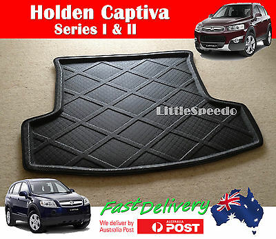 Holden Captiva 7 Boot Liner Cargo Floor Mat Trunk Tray Protector - Black