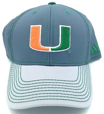 Basketball Sporting Goods Ncaa Miami Hurricanes Adidas Flex Fit Cap Hat Beanie Style #m658z New Grade Products According To Quality