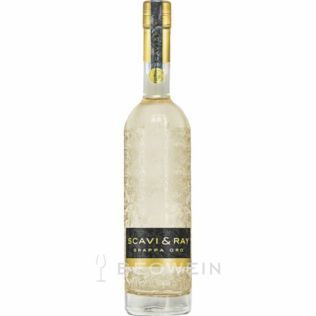 Scavi & Ray Grappa Oro 0,7 l Holzfass gelagerter Grappa aus dem Veneto, 40%vol