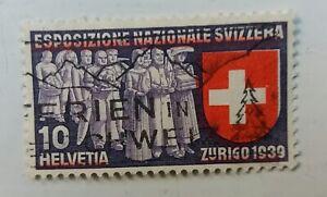 Suiza-singular-de-la-berilio-color-rojo-10-Helvetia-zurich-1939-error