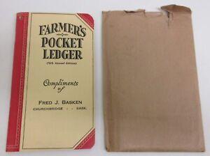 1944 1945 John Deere Farmer's Pocket Ledger - Churchbridge Sask.