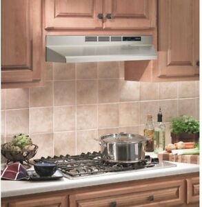 Nutone 30in Kitchen Non Vented Ductless Under Cabinet Range Hood