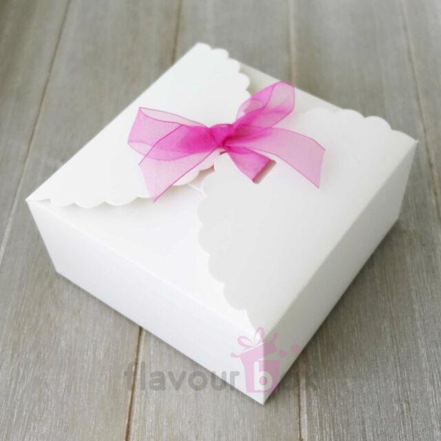 10x White Large Boxes Cupcake Macaron Wedding Bomboniere Baby