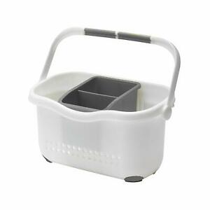 Sink-Tidy-Caddy-Cutlery-Kitchen-Holder-Rack-Plastic-Untensils-Organiser-Addis-WG