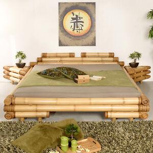 bambusbett 140x200 meiji abaca jugendbett bettrahmen bettgestell asiatisch holz ebay. Black Bedroom Furniture Sets. Home Design Ideas