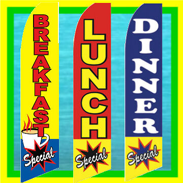 FLAG ONLY DINNER SPECIAL 12ft Feather Banner Swooper Flag