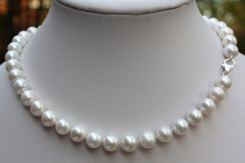 AA 40cm 9mm Luxus Süßwasser Perle Schmuck Perlenkette Echtschmuck Kette Collier