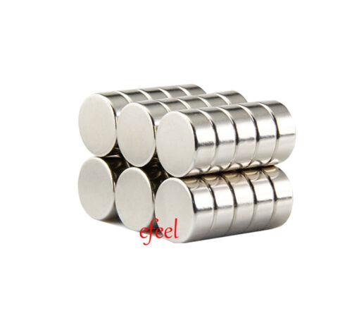 Glossy Strong 12mm Diameter x 5mm Thickness Neodymium Disc Round Magnets