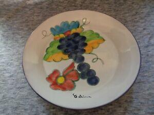 Himark-Large-stoneware-Portuguese-platter-Signed-Celina-Condition-is-used