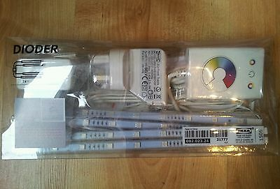Ikea Dioder multi changing colour  led light  x4 strips,  VERY RARE !!!!!!!!!