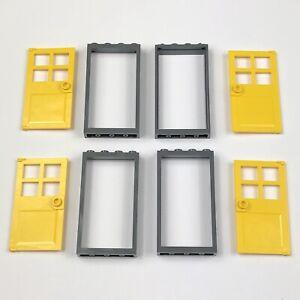 Choose 1,2,4,6,8 or 10 NEW /& GENUINE Lego Part 60596 40289 1x4x6 Door Frame