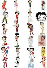 65 Mixed Betty Boop Small Sticky White Paper Stickers Labels New