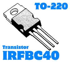 IRFBC40   IRFBC40PBF  N-Channel  600V 6,2A  125W  1,2R  TO220  NEW 1 pc