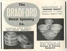 1953 The Bradford Metal Spinning Co Farnham Road Works Great Horton Ad
