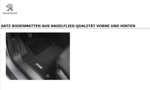 Nadelvlies 1609851780 Original PEUGEOT 308 Fußmatten Satz für vorne und hinten