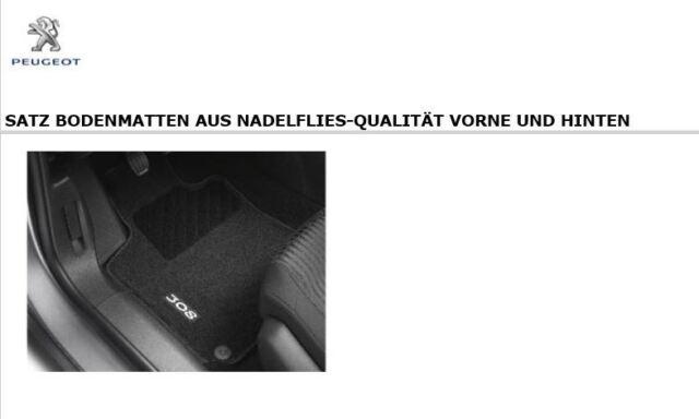Original PEUGEOT 308 Fußmatten Satz für vorne und hinten, Nadelvlies 1609851780