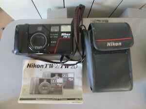 APPAREIL PHOTO  COMPACT ARGENTIQUE NIKON TW2D  35-70mm + DRAGONNE + ETUI+ NOTICE