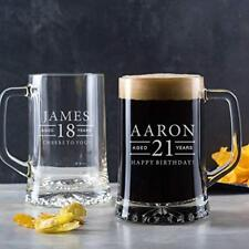 Item 4 Personalised 21st Birthday Gift Male For Men Him Son Engraved Pint Glass Tankard