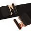 thumbnail 4 - Women Wide Elastic Stretch Waist Belt Gold Bucket Black Belt Wide Waist Belt