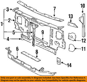 97 nissan pickup 2 4 exhaust system diagrahm nissan oem 95 97 pickup 2 4l l4 radiator core support valance  nissan oem 95 97 pickup 2 4l l4
