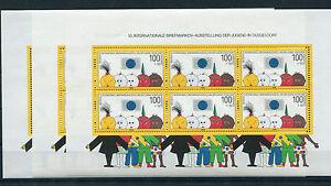 3-x-Bund-Block-Nr-21-postfrisch-BRD-1472-Briefmarken-Ausst-1990-Michel-66-00