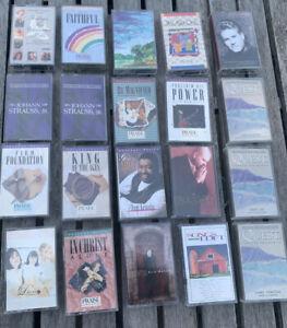 Lot-of-20-CHRISTIAN-Rock-MUSIC-Cassettes-Sierra-Steve-Green-Mullins