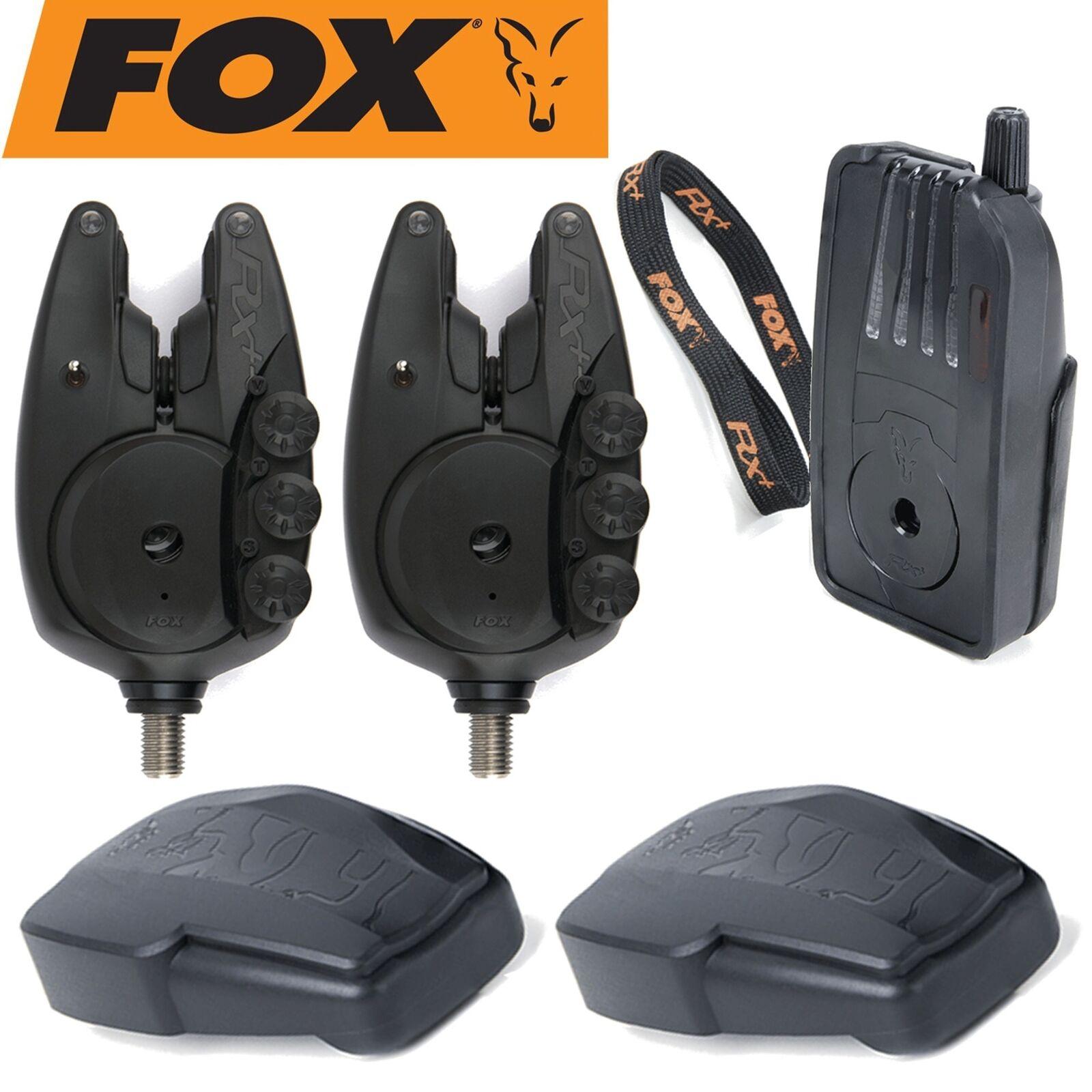 Fox Micron RX+ Funkbissanzeiger Set - 2 Bissanzeiger + 1 Receiver, Karpfenangeln