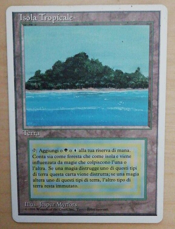 TROPICAL ISLAND Magic the Gathering Revised Foreign White Bordered ENG ENG ENG ITA MTG 577428