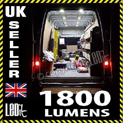 Transit Mk7 TDCi 06-12 Super Bright Van Back Interior Load LED Light Kit