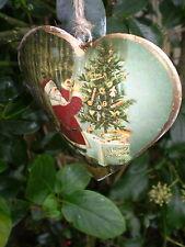 Fantástico danés Colgante Vintage Navidad Corazón Decoración, Diseño A8
