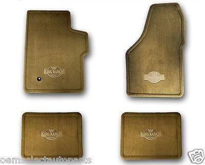 OEM NEW 2008-2010 Ford F-250 F-350 CREW CAB King Ranch Tan Carpet Floor Mats