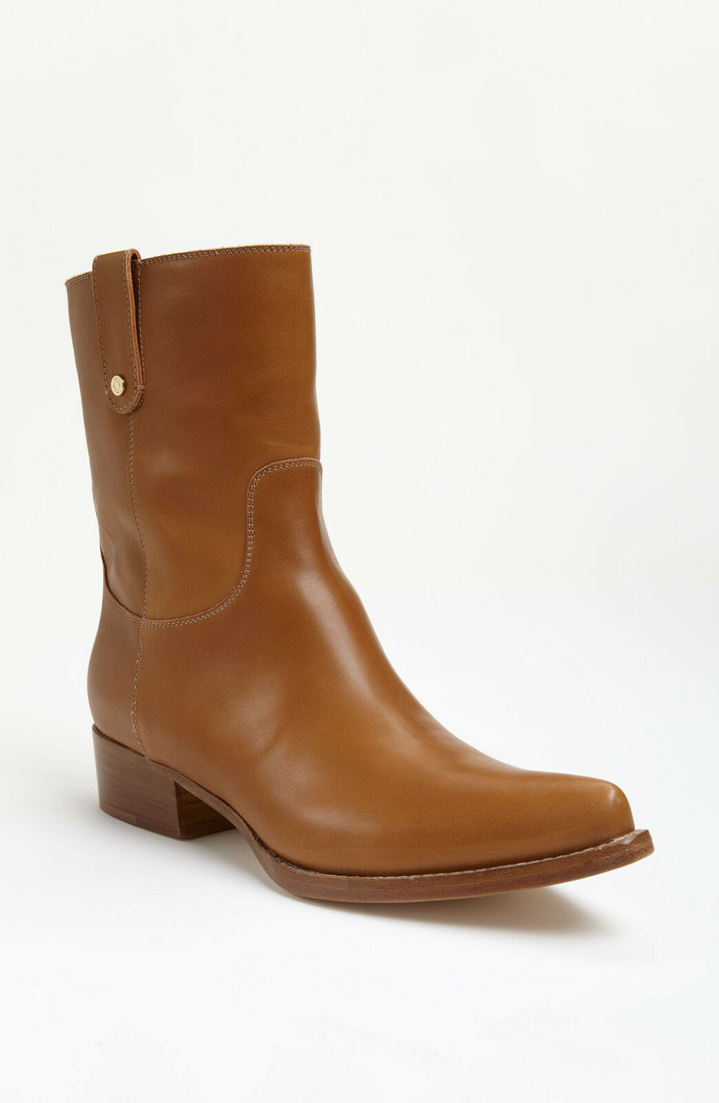 Jimmy Choo BORDER Western Mid Calf Brown Tan Leather Boots Booties Shoe 41 / 11