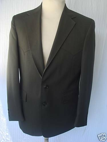 44R 36W New Mens Western Wear Suit Mineral WorstedFiber