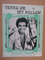 song sheet TEARS ON MY PILLOW Johnny Nash  1975